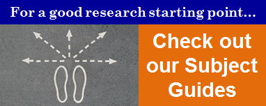 Subject Guides for research starters