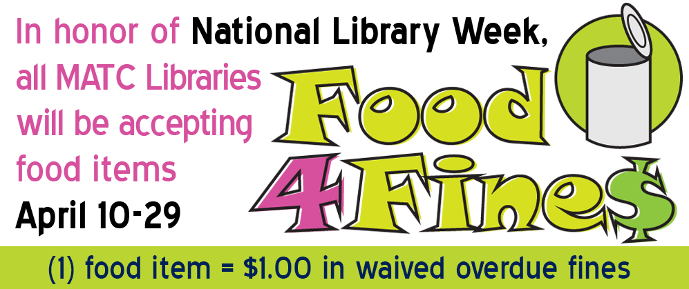 Food for Fines April 10-29