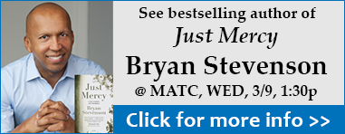 Author Bryan Stevenson at MATC March 9